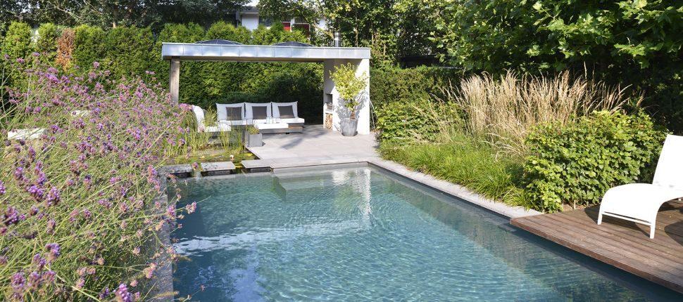 natuurlijk zwembad Nijmegen in tuin